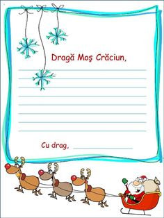 Scrisoare pentru Moş Crăciun - Logorici Christmas Decorations, Christmas Tree, Education Quotes, Santa, Printables, Lettering, Crafts, Google, Cots