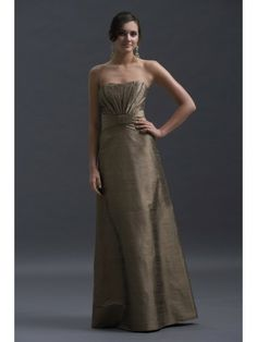 Dupioni Strapless Shrug Jacket Floor-Length Special Occasion Dress
