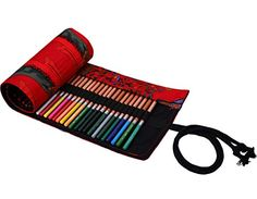 Pencil Case,Petforu 36 Hole Canvas Roll-up Wrap Pencil Bag Drawing Brush Holder National Wind Pattern Sketching Case - Red -- Awesome products selected by Anna Churchill Pencil Bags, Pencil Pouch, Pouch Bag, Homemade Gifts For Men, Diy Gifts For Men, Crafts To Make And Sell, Make A Gift, Pattern Sketch, Zip Around Wallet