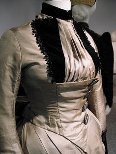 Couture Historique: Silk Faille Dress c1887-89