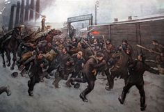 The Tsar's troops cracking down on protesting Russian workers