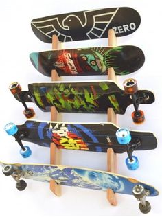 Skateboard Rack | Slotted Wall Mount