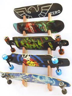 Skateboard Rack | Slotted Wall Mount