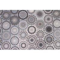 Tissu coton motif rosace, par 50cm