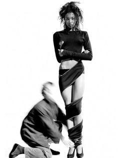 Naomi Campbell and Azzedine Alaia, 1987 // Arthur Elgort