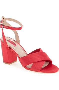 Topshop 'Rich' Cross Strap Sandal (Women) available at #Nordstrom