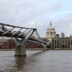 An incredible view of the Millennium Bridge and St Paul's Cathedral #london #seelondon #visitlondon