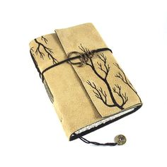 Handmade Leather Journal  Roots Suede Notebook by Kreativlink, €38.00