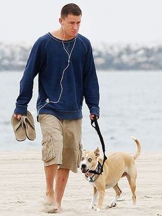 channing tatum and his dog!! awww!
