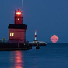 Spent some of my favorite evenings watching this!  Super moon, Holland State Park, Michigan