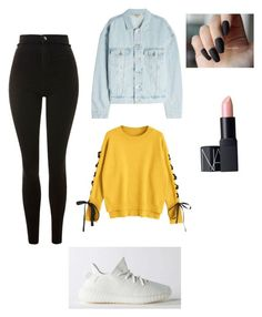 """""""Untitled #20"""" by karolinahaj on Polyvore featuring adidas, Topshop, Yeezy by Kanye West and NARS Cosmetics"""