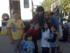 """devon bostick diary of a wimpy kid   ... Devon Bostick, Peyton List & Dalila's Brothers on the set of """"Diary of"""
