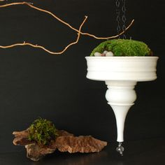 Hanging planter by InglesidePottery on Etsy, $45.00