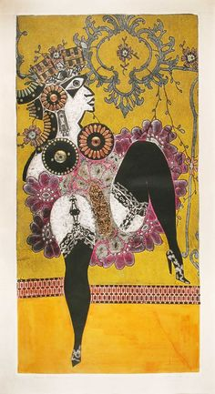 """Ramona bataclana"".BERNI Art Pop, Social Realism, Art Database, Gravure, Art Forms, Weird, Artwork, Prints, Printmaking Ideas"