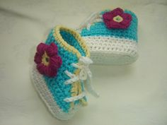Crochet Baby Shoes by VoulaCrochet on Etsy