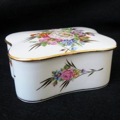 Vintage Limoges French Porcelain Floral Vanity by SanDiegoVintage, $36.00