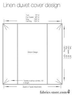 How To Measure For A Custom Bedspread Sewing Pinterest