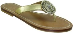 Skemo Bunga Women's Capri Style Gold Silver Beaded Flat Thong Sandals ** Want additional info? Click on the image.