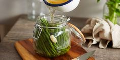 Garlic Pickled Green Beans - I Quit Sugar. Enjoy as a snack, or tossed through a warm salad.