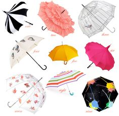 All of these umbrellas are cute and simply amazing! With these umbrellas you'll be the cutest girl on the block.