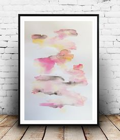 Abstract Art Modern Watercolor Abstract by BohemianInkStudios