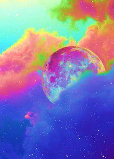 Colourful moon