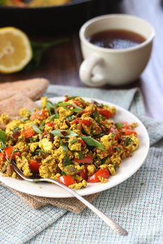 Whether you stuff it into a pita or eat it on its own, this Mediterranean Tofu Scramble is a filling, delicious breakfast.