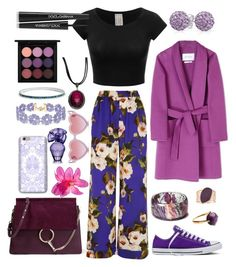 """Pure PURPLE Hell ✳"" by rileyadewitt on Polyvore featuring Dolce&Gabbana, Chloé, Sons + Daughters, Converse, BCBGMAXAZRIA, BaubleBar, MaxMara, Vince Camuto, MAC Cosmetics and Bling Jewelry"