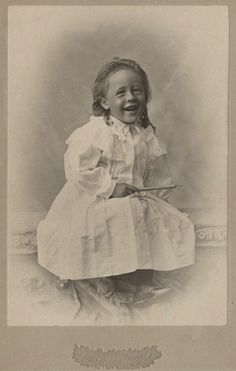 +~+~ Antique Photograph ~+~+  Laughter and a big smile at a time when photographs were stoic.