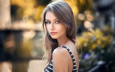 Download wallpapers Leah Cuvillier, photomodels, beauty, blonde, beautiful girls