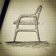 Charmant Furniture Sketch #furniture #sketch #chair #armchair #industrialdesign  #design #industrial #designer #drawing #draw | Design | Pinterest