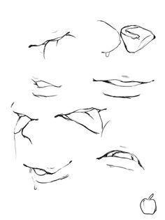Manga Drawing Tips Mouth Drawing, Body Drawing, Anatomy Drawing, Manga Drawing, Manga Art, Sketch Mouth, Drawing Practice, Drawing Skills, Drawing Techniques