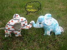 My grandmal used to make these all the time! I wana learn now :) make some bama elephants :) ///elephant sewing pattern