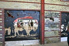 Lots of artwork Tequila Valley Evergreen Brick Work. Part of the DON VALLEY Evergreen Brick Works Stroll (Stroll in Toronto Urban Strolls