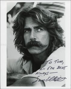 HistoryForSale Autographs and Manuscripts Sam Elliott Sam Elliott Pictures, Big Lebowski, Sam Eliot, Katharine Ross, Mustache Styles, Tom Selleck, Good Looking Men, Star Wars, Hollywood Stars