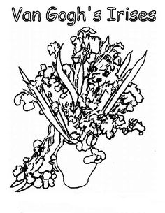 The 85 best sunflower coloring page van gogh images on Pinterest ...