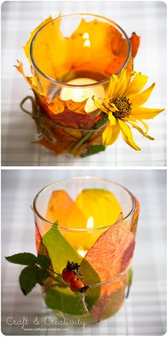 Autumn Lanterns - Easy, cheap and cozy for those ever darker autumn evenings - by Craft Creativity.