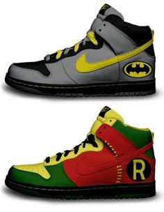 Batman Shoes | Nike does Batman and Robin shoes