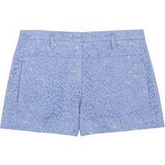 No. 21 Polly cotton-blend lace shorts