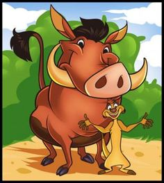Disney - How to Draw Timon and Pumbaa Most Popular Cartoons, Best Cartoons Ever, 80 Cartoons, Cartoon Memes, Cartoon Characters, Cartoon Head, Disney Cartoons, Timon Et Pumbaa, Images Disney