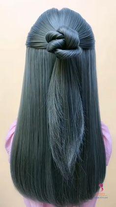 Hairdo For Long Hair, Haircuts For Long Hair, Cool Braid Hairstyles, Work Hairstyles, Girl Hair Dos, Front Hair Styles, Brown Blonde Hair, Hair Jewelry, Hair Hacks