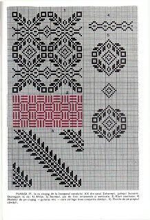 *etnobiblioteca* începutul sec XX Blackwork Embroidery, Ribbon Embroidery, Cross Stitch Borders, Cross Stitch Patterns, Willow Weaving, Kurta Designs Women, Filet Crochet, Color Patterns, Needlework