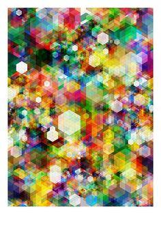 Cuben Digital Grid, by Simon C. Page  #pattern #geometric #color
