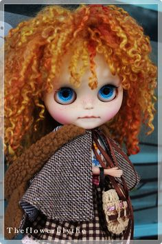 OOAK Custom Blythe doll Face up and Customized от Thehandflower