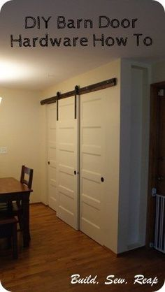 Pantry with DIY Barn Door Hardware by Julie @ Buildsewreap.com