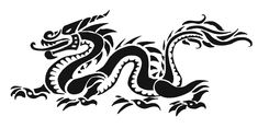 simple+dragon+drawings   Simple Tribal Dragon Drawings Tribal dragon tattoo