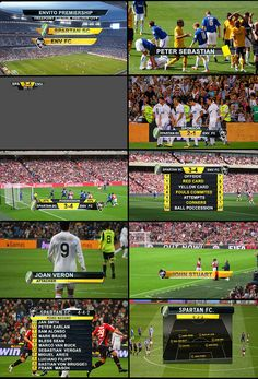 "$30.00  Live Sports Graphics is the second installation to ""On Air Graphics."" If you liked the previous edition, you should love this one. It gives you all the Graphics you will need to title a live sporting event and even more. Although soccer was the main idea, it could be used for other sports as well. It is a complete sports visual toolset!"