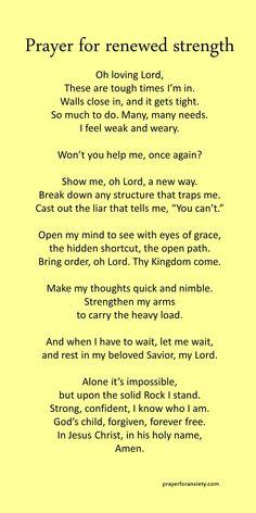 Prayer for renewed strength