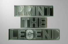 3d Type, 3d Printed Objects, 3d Video, Digital Fabrication, 3d Printing Technology, 3d Printer, Videos, Netflix, Typography