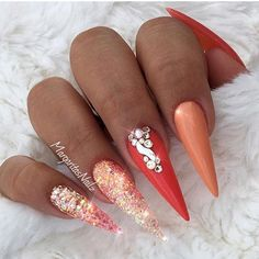 """1,606 Likes, 13 Comments - Nail Me Good (@nail_me_good_) on Instagram: """" Wow! Wow! Wow! Nails by @nailbarofficial. • • • Products Used: Cover me pink from…"""""""